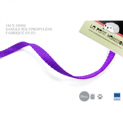 1m x 10mm Sangle / Polypropylène / Epais / Fabriqué dans l'ue / violet