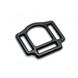 1 x 25mm Boucle carré de licol / Harnais / Métal / Noir Matt