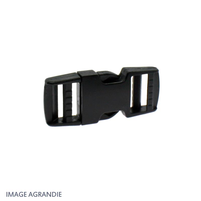 25mm Boucle Attache Rapide  Fermoir Clip  Plastique  Noir  Rigide Plat