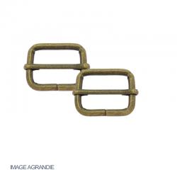 Boucles Coulissantes Réglables Acier Bronze Antique