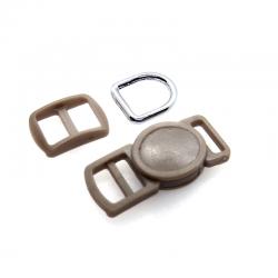 10mm Kit Collier Pour Chat / haute qualité / taupe