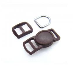10mm Kit Collier Pour Chat / haute qualité / marron