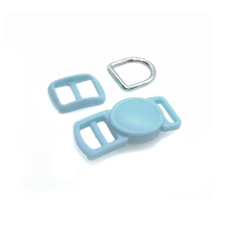 10mm Kit Collier Pour Chat / haute qualité / bleu clair