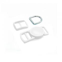 10mm Kit Collier Pour Chat / haute qualité / blanc