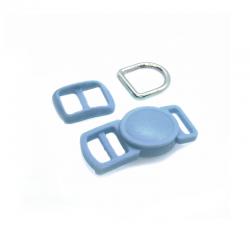 10mm Kit Collier Pour Chat / haute qualité / bleu ardoise