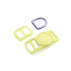 10mm Kit Collier Pour Chat / haute qualité / jaune clair
