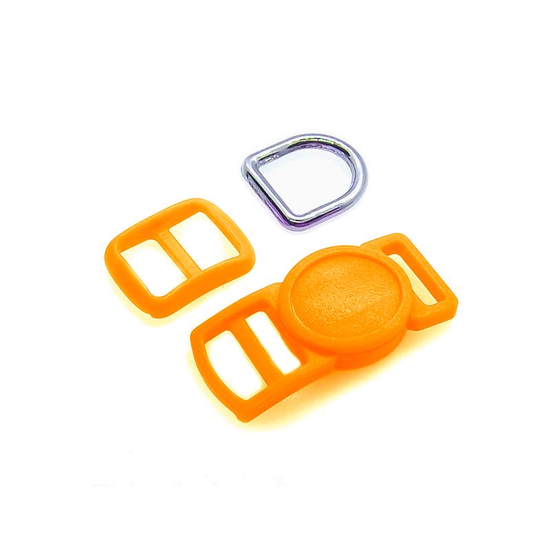 10mm Kit Collier Pour Chat / haute qualité / orange fluo