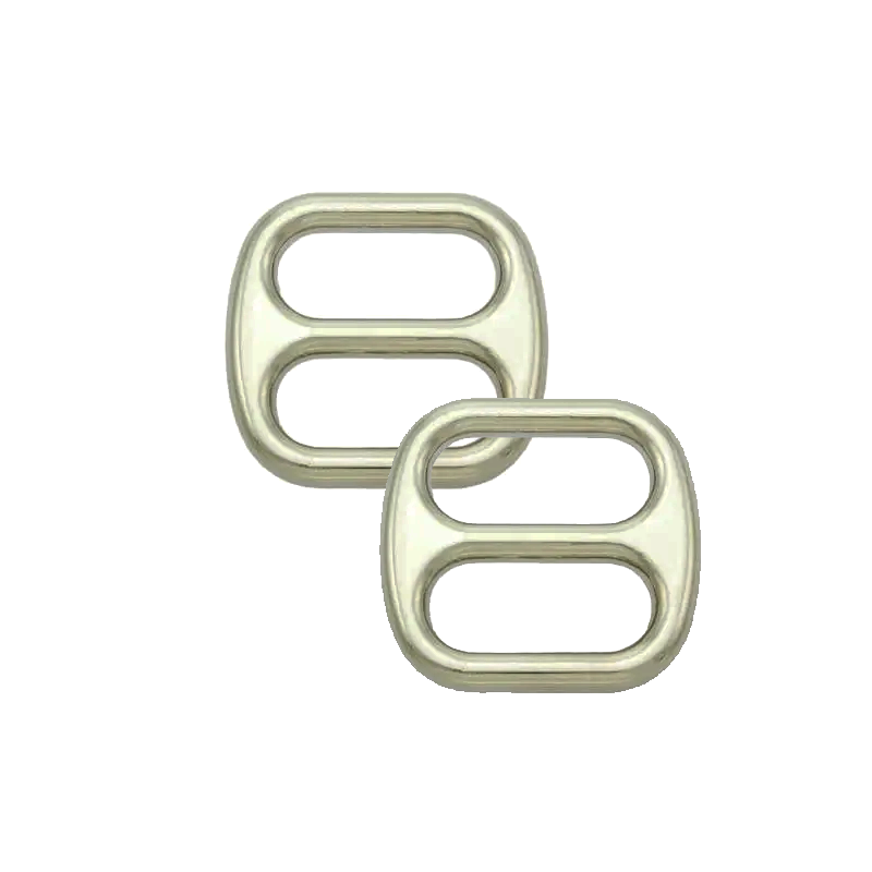 Boucles Coulisse Passants Doubles Nickel Robuste Large