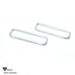 2 X Anneaux Rectangulaires / Passants Simples / Inox / Leger / Soude