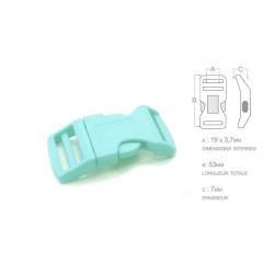 1 x 19mm Boucle Attache Rapide / Fermoir Clip / Plastique / Bleu Clair / Sacs