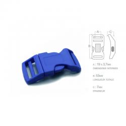 1 x 19mm Boucle Attache Rapide / Fermoir Clip / Plastique / Bleu / Sacs