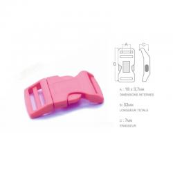1 x 19mm Boucle Attache Rapide / Fermoir Clip / Plastique / Rose / Sacs