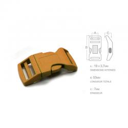 1 x 19mm Boucle Attache Rapide / Fermoir Clip / Plastique / Marron / Sacs