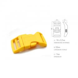 1 x 19mm Boucle Attache Rapide / Fermoir Clip / Plastique / Jaune /  Sacs